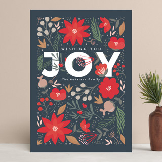 Floral Joy Holiday Cards