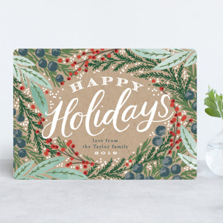 Holiday Wreath Holiday Cards