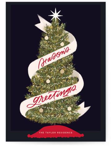 Seasonal Ribbon Holiday Non-Photo Cards