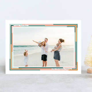Lined New Year Photo Cards
