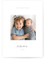 Gazing. boy New Year Photo Cards