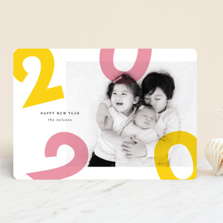 Colorful Fun New Year Photo Cards