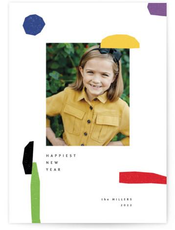 joyful elements New Year's Photo Cards