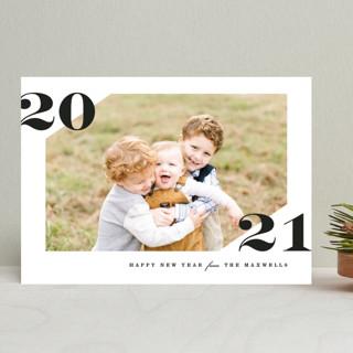 Cornered New Year Photo Cards