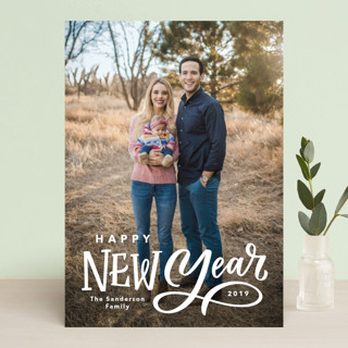 Lettered New Year New Year Photo Cards