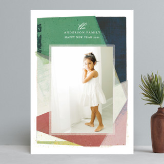 Color Collage New Year Photo Cards