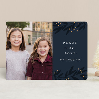 Shadow branches New Year Photo Cards