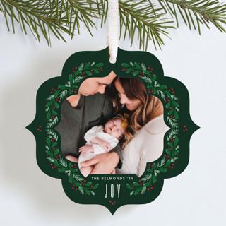 Mistletoe ornament Holiday Ornament Cards