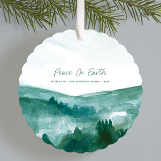 Wintergreen Holiday Ornament Cards