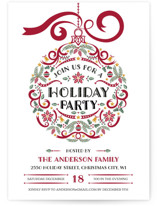 Holiday Party Ornament Holiday Party Invitations