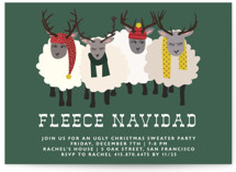 Fleece Navidad Holiday Party Invitations