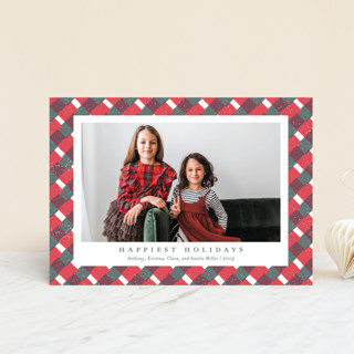 Holiday Gingham Holiday Postcards