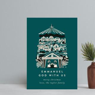 Mod Bethlehem Manger Holiday Postcards