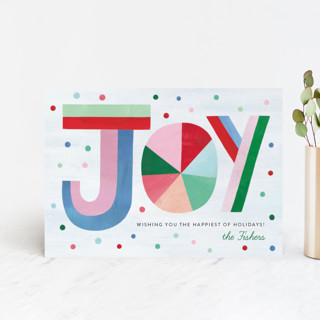 Hand Lettered Joy Holiday Postcards