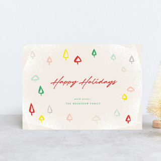 Colorful Mini Trees Holiday Postcards