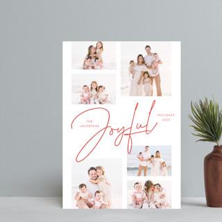 Joyful Script Montage Holiday Postcards