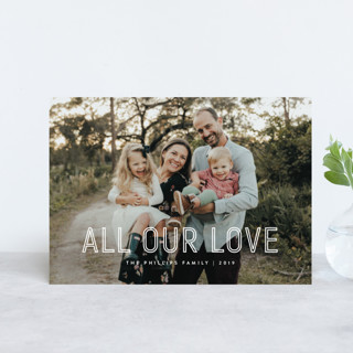 Lettered Holiday Postcards