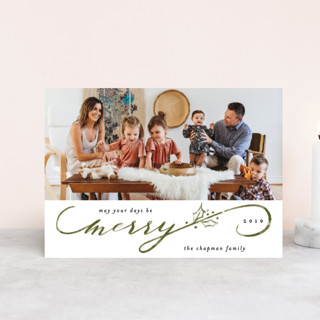 Merriest Script Holiday Postcards