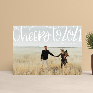 Brushed Cheer Holiday Postcards