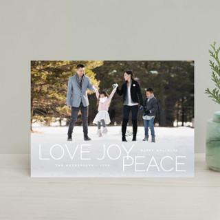 oh so merry in line Holiday Postcards