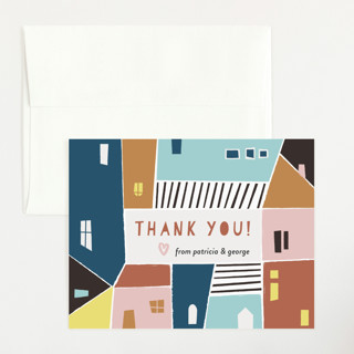 Papercut Village Flat Baby Shower Thank You Cards