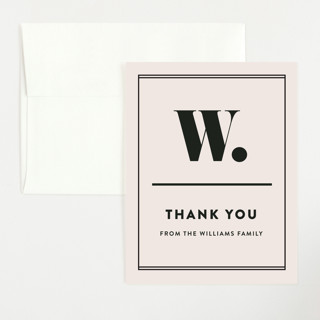 Numero Flat Baby Shower Thank You Cards