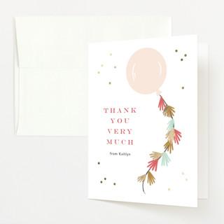 Fringe Foil-Pressed Baby Shower Thank You Cards