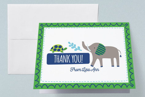 Bright Jungle Baby Shower Thank You Cards