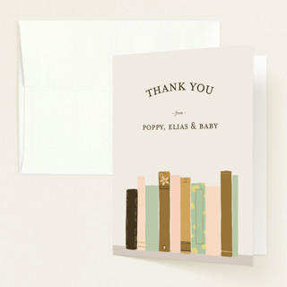 Book Lovers Baby Shower Thank You Cards