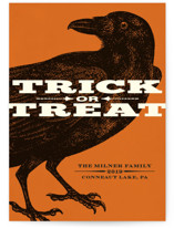 Trick or Treat Raven Halloween Petite Cards