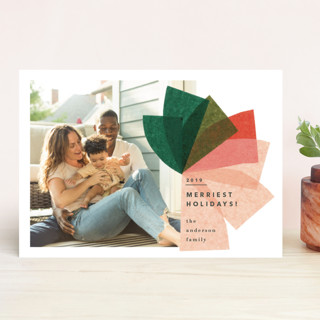 mod bow Holiday Photo Cards