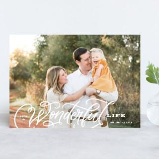 Wonderful Entwined Holiday Photo Cards