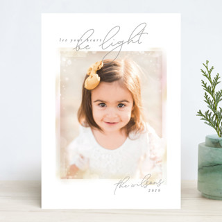 Bokeh Frame Holiday Photo Cards