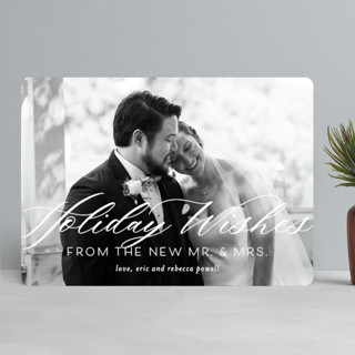 New Mr. & Mrs. Holiday Photo Cards