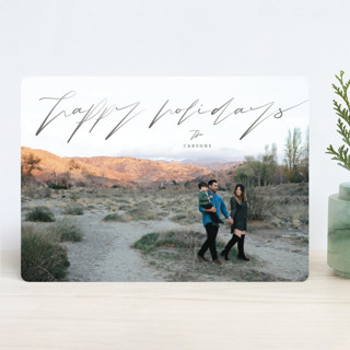 Graphite Holiday Photo Cards