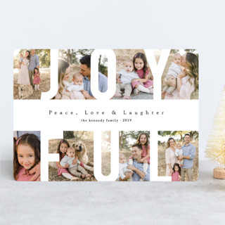 Peace Love & Laughter Holiday Photo Cards