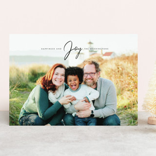 Happiness and Joy Holiday Photo Cards