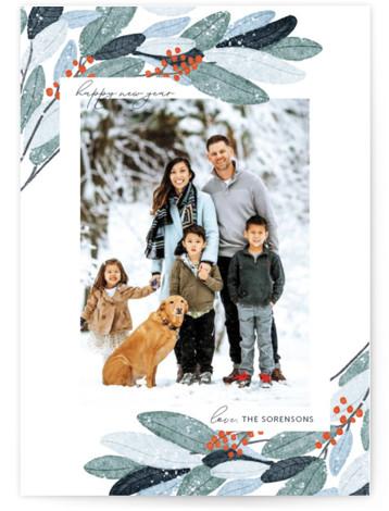Wintery Eucalyptus Holiday Photo Cards