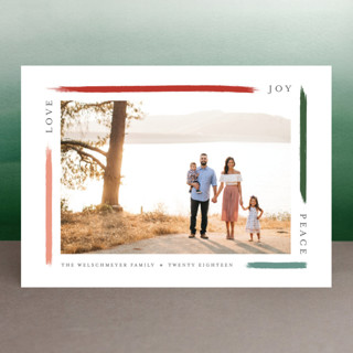 holiday brushed Holiday Photo Cards