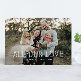 Lettered Holiday Photo Cards