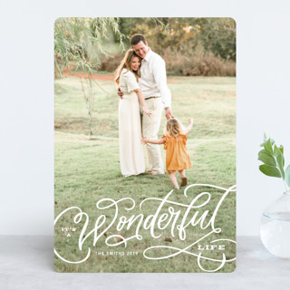 Wonderful Entwined Holiday Photo Cards