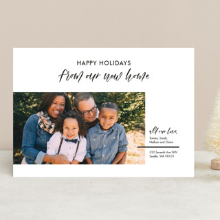 Our New Home Holiday Photo Cards