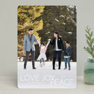 oh so merry in line Holiday Photo Cards