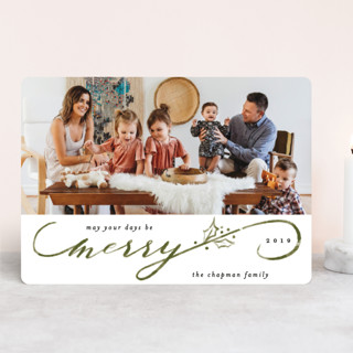Merriest Script Holiday Photo Cards