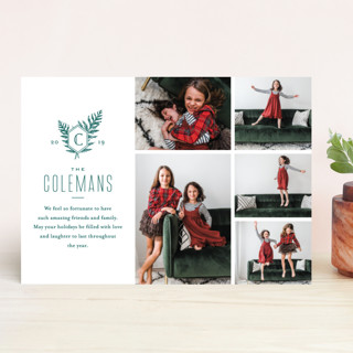 Modern Classic Holiday Photo Cards