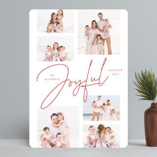 Joyful Script Montage Holiday Photo Cards