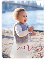 Simple Corner Holiday Photo Cards