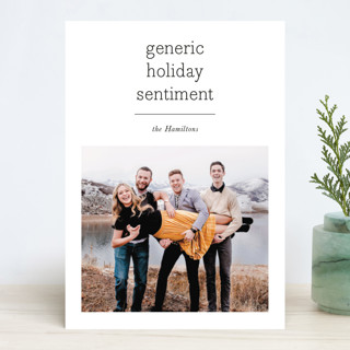 Generic Holiday Photo Cards