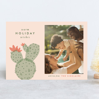 holiday cactus Holiday Photo Cards