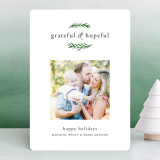 Grateful & Hopeful Holiday Photo Cards